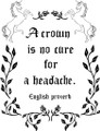 Wall Decals and Stickers - A Crown is No Cure