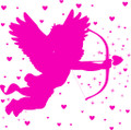 Wall Decals and Stickers – Cupid W Hearts