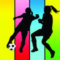 Wall Decals and Stickers – girl soccer players