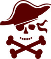 Wall Decals and Stickers –  pirate face