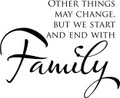 Wall Decals and Stickers –  family  other things may change
