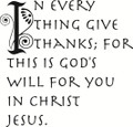 Wall Decals and Stickers – In every thing give thanks