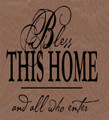 Wall Decals and Stickers - Bless this home and all who enter