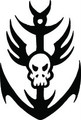 Wall Decals and Stickers - anchor and skull