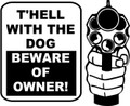 Wall Decals and Stickers  –  the hell with the dog