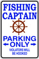 Wall Decals and Stickers – fishing captain  parking only