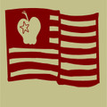 Wall Decals and Stickers - American flag and apple