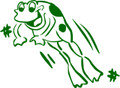 Wall Decals and Stickers –  frog jumping