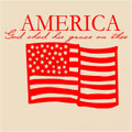 Wall Decals and Stickers - American flag: god shed his grace on thee