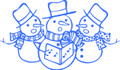 Wall Decals and Stickers – Snowman Design