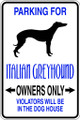Wall Decals and Stickers - Italian Greyhound