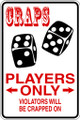 Wall Decals and Stickers - Craps