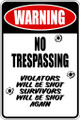 Wall Decals and Stickers - Warning No Trespassing