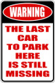 Wall Decals and Stickers - Warning The Last Car