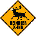 Wall Decals and Stickers - reindeer x-ing