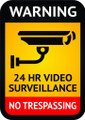 Wall Decals and Stickers - warning 24hour video surveilance