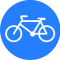 Wall Decals and Stickers - Blue Bicycle