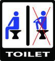 Wall Decals and Stickers - Toilet Proper Sitting Male