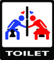 Wall Decals and Stickers - Toilet Love Story