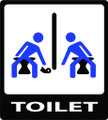 Wall Decals and Stickers - Toilet Paper Sharing