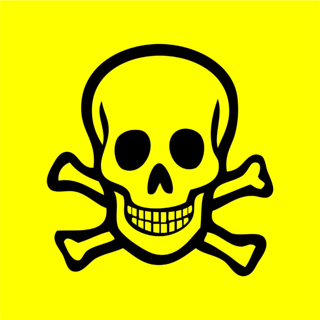 Poison Sign Yellow Wall Vinyl Decal Design With Vinyl