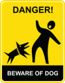 Wall Decals and Stickers - Beware of Dog Yellow
