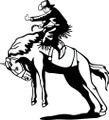 Wall Decals and Stickers - COwboy Horse Back Riding
