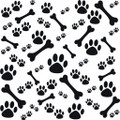 Wall Decals and Stickers - Dog Bones and Foot Prints