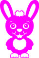 Wall Decals and Stickers - Pink Rabbit