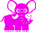 Wall Decals and Stickers - Pink Elephant