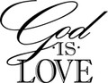 Wall Decals and Stickers - God Is Love Design