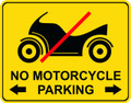Wall Decals and Stickers - No Motorcycle