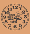 Wall Decals and Stickers - Clocl: never trust a skinny cook!