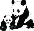 Wall Decals and Stickers - Mom and Baby Panda