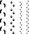 Wall Decals and Stickers - Foot, Paws Prints