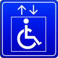 Wall Decals and Stickers - Elevator of DIsabled