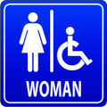 Wall Decals and Stickers - Women's Restroom