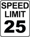Wall Decals and Stickers - Speed Limit 25