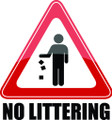 Wall Decals and Stickers - No Littering