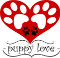 Paw Prints Inside A Heart Decal  -  Love  -  Wall Decals & Stickers