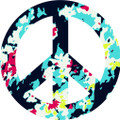 Peace Sign 5 Decal  -  Dorm Rooms  -  Wall Decals & Stickers