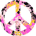 Peace Sign 8 Decal  -  Dorm Rooms  -  Wall Decals & Stickers