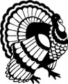 Turkey Decal  -  Bird / Everything Birds / Parrots  -  Wall Decals & Stickers