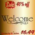 Welcome Picture Art  Home Decor Sticker  Vinyl Wall Decal  7x23