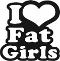 Wall Decals and Stickers - I love fat girls