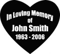 Wall Decals and Stickers - In memory of (3)
