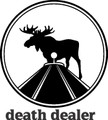 Death Dealer Deer Hunter Rifle Sight Scope Target Gaphic Art - Animal Home Decor Room Sticker - Vinyl Wall Decal - 24 Colors Available - BEST BUY 10x10