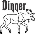 Dinner of Hunt Outdoor Wild Game Deer Die Cut - Home Decor Room Sticker - Vinyl Wall Decal - 24 Colors Available - BEST BUY 10x10