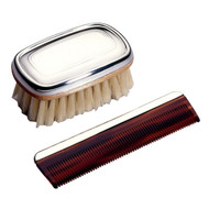 Pewter Classic Boy's Brush and Comb Set