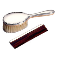 Sterling Silver Girls Brush & Comb Set